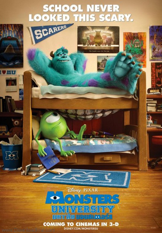 monsters university poster nuovo 02 دانلود انیمیشن جدید monsters university 2013